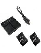ismartdigi EL14 Digital Camera Battery x2 + Dual Charger for Nikon D3200 D3300 D5100 D5200 D5300 D5500