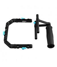 FOTGA DP3000 Top Handle Cage Bracket Ssuppot Rig For 15mm DSLR Rod Follow Focus