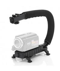 C Shape Video Stabilizer Handle Mount Grip for DV Camcorder DSLR Camera