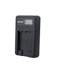 Camera Battery Charger with Screen for SONY NP - BN1 Black
