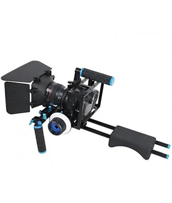 4 IN1 DSLR Rig kit 1PC shoulder mount rig 1PC Matte Box 1PC follow focus 1PC Dslr cage for Cameras & Video Camcorders