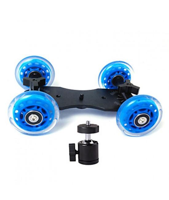 Professional Tabletop DSLR Camera Dolly Slider Skater Wheel Truck Stabilizer for 5D2 EOS Video +General Small PTZ